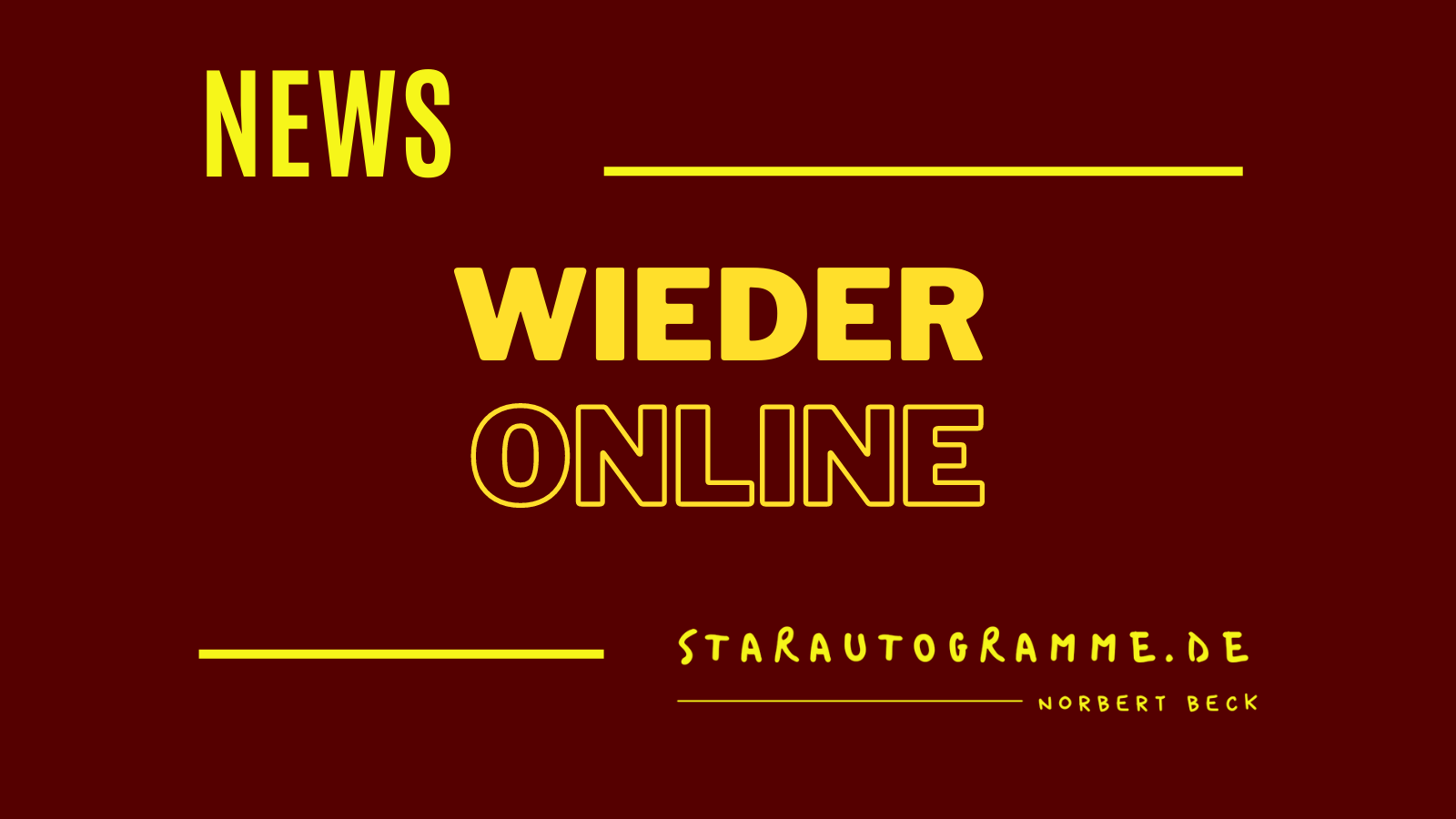 Read more about the article Wieder online