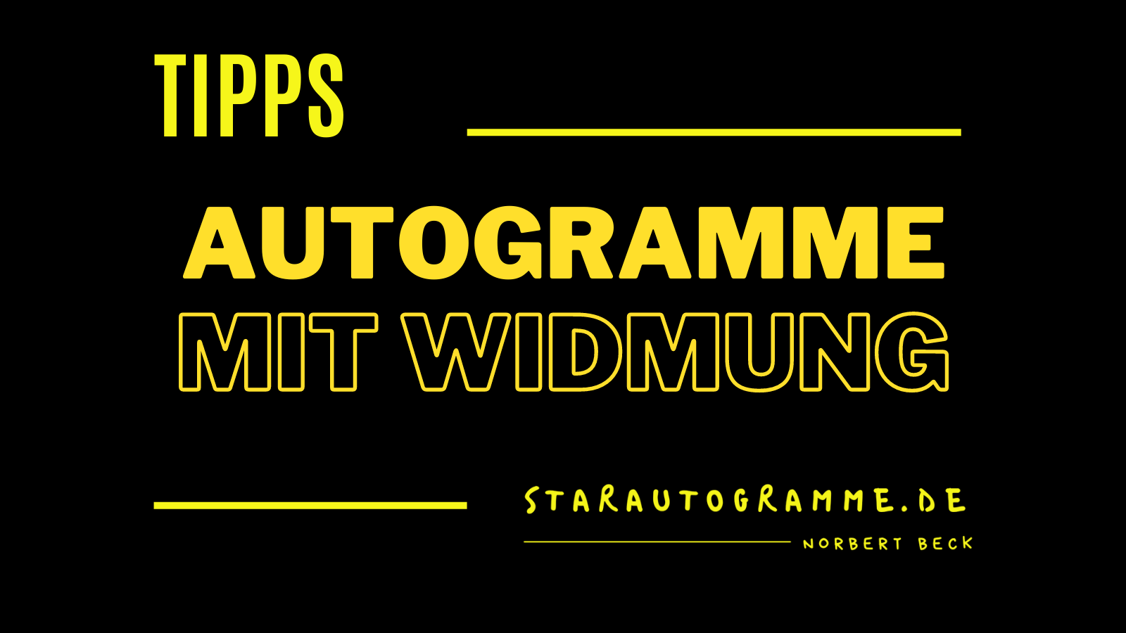 You are currently viewing Autogramme mit Widmung