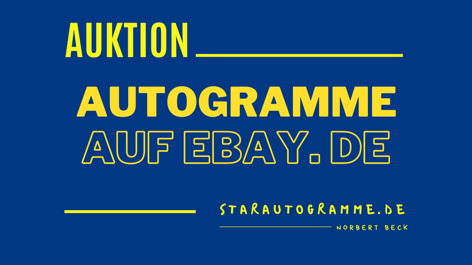 Read more about the article starautogramme.de auf Ebay