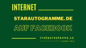 Read more about the article starautogramme.de auf Facebook