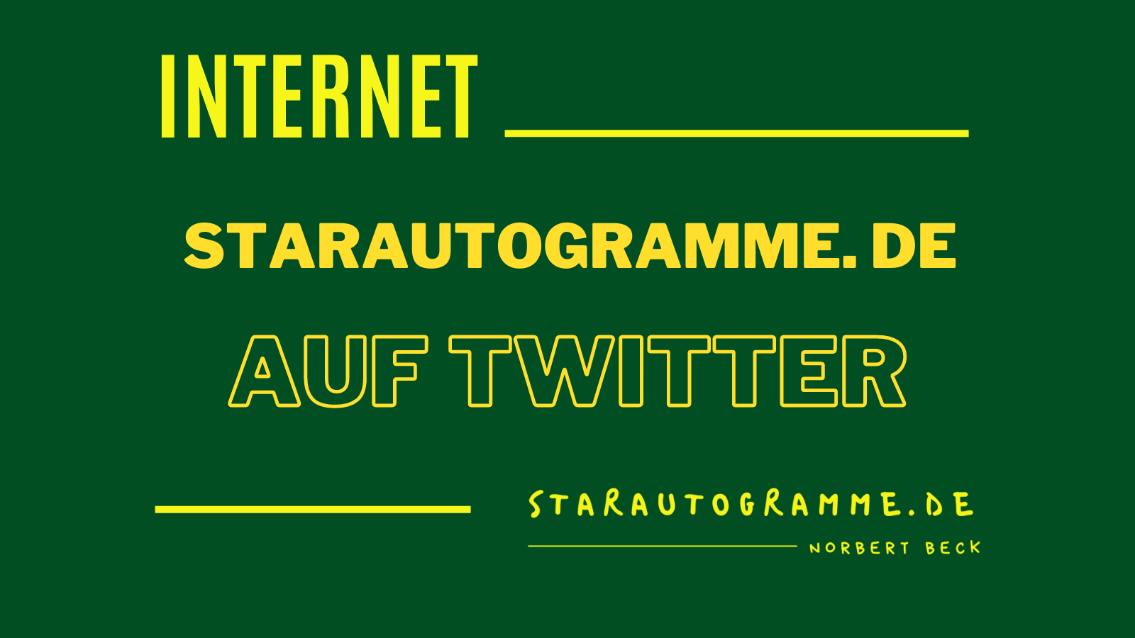 Read more about the article starautogramme.de auf twitter