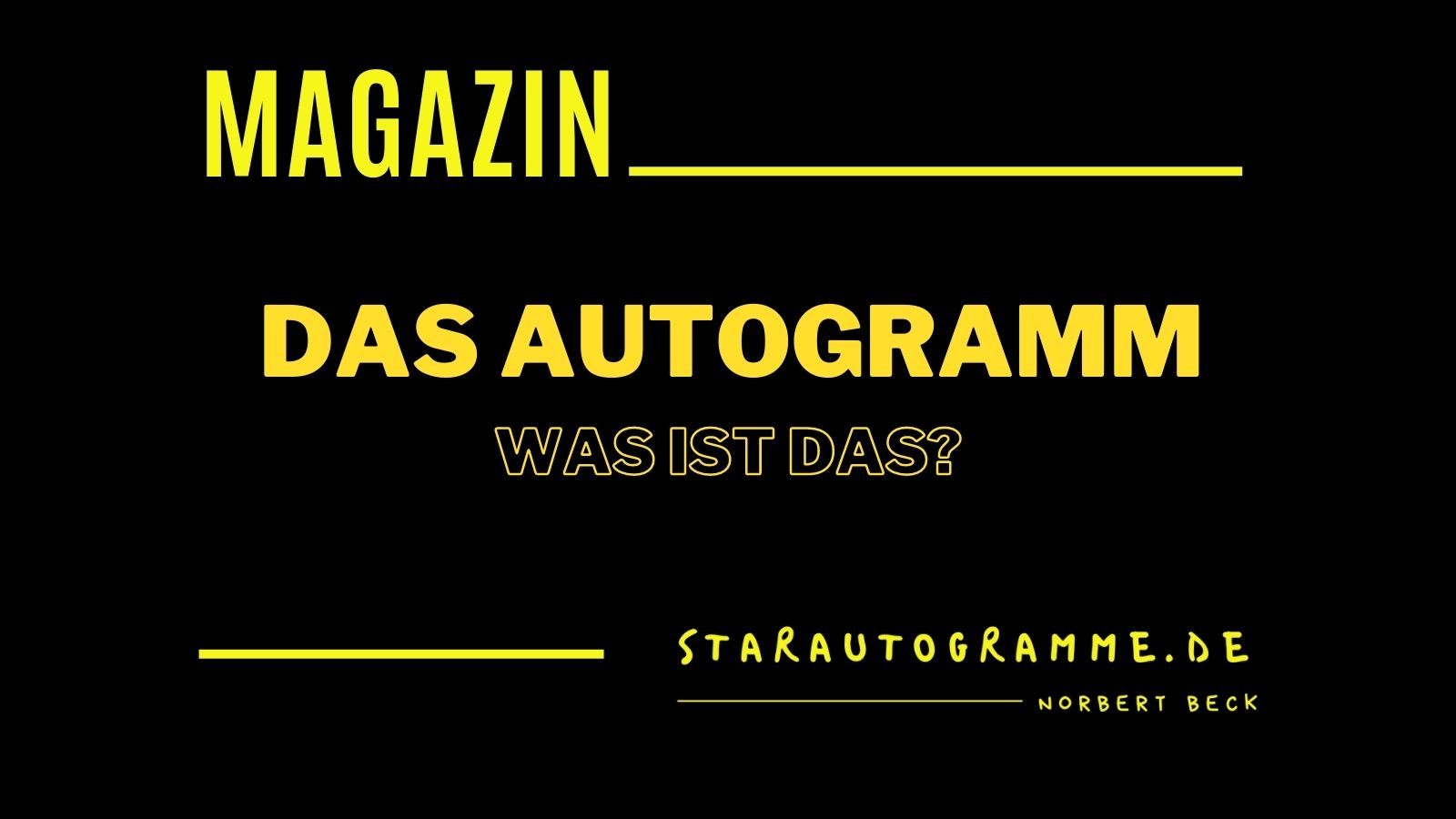 Read more about the article Das Autogramm – was ist das?