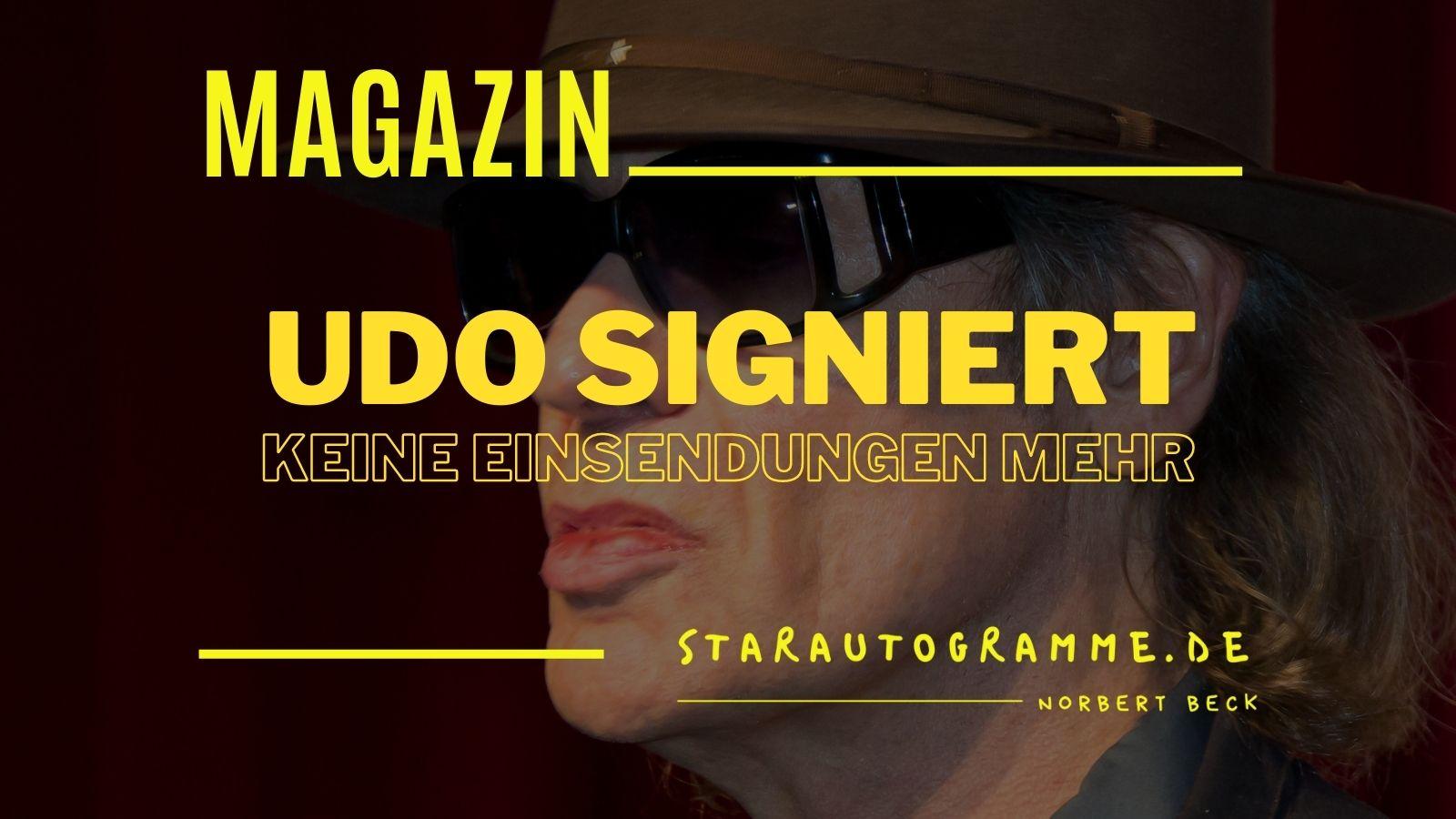 Read more about the article Udo signiert keine Einsendungen mehr